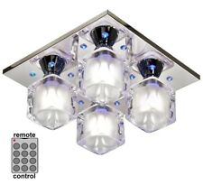 "Searchlight 3784-4CC ""Cool Ice"" 4-Light + LED & Remote Control Ceiling Light."