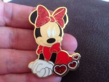 Disneyland Paris Mini Mouse Glitter Pin For Lanyard , Hat, Bag Pre Owned