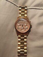 Michael Kors MK5128 Runway Rose Gold Chronograph Ladies Designer Watch