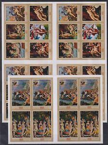 S464. 4x Manama - MNH - Art - Paintings - Various - Imperf
