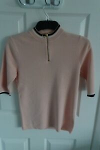 Next 3/4 sleeve knitted top jumper shirt in pale pink size 6
