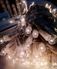 Luci di Natale Vintage - 120 Miniglobini chiari cavo trasparente anche esterno