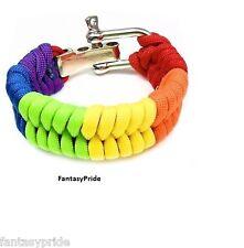 Gay Pride Rainbow Paracord Bracelet - New