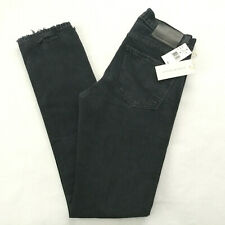 $268 Citizens of Humanity Slim Denim Jeans Size 28 28x34 Disstress Black Bowery