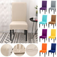 US Stretch Dining Chair Covers Slipcovers Removable Banquet Protective Cover