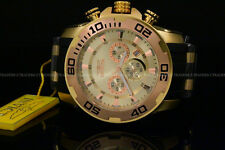 Invicta 50mm Pro Diver Scuba Chrono Rose Gold Bezel Gold Dial Poly Strap Watch