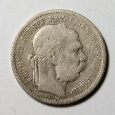 E479 Imperio Austrohungaro, Hungria, 1 Korona 1895 plata - Hungary, silver