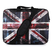 "TaylorHe 15.6"" Laptop Shoulder Bag With Handles Strap Union Jack Flag"