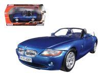 BMW Z4 1:24 Scale Metal Diecast Car Model Die Cast Models Toy Miniature Blue