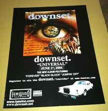 DOWNSET 2004 ULTRA RARE Retail PROMO POSTER For Universal CD USA 18 x 24