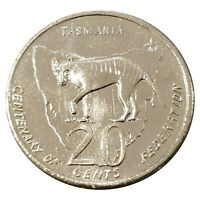 Australia 2001 Federation Centenary Tasmania 20c  Uncirculated Coin Loose - RAM