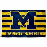 University of Michigan Wolverines UM Large College Flag Hail to the Victors 3x5