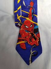 RM Style Spiderman Laser Marvel Comics 100% Silk Made in USA Tie