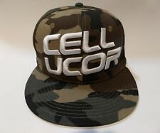 CELLUCOR Logo Hat Cap Camouflage SnapBack Camo Heavy Embroidery