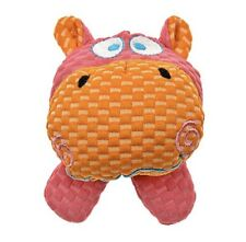 """Patchwork Pet TuffPuff, Squeaky, Hippo Head 6"""" Small Dog Toy-Free Shipping!"""