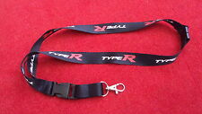 Genuine HONDA TYPE-R Cordon Noir Blanc Rouge-Civic Type-r Gamme Key Chain