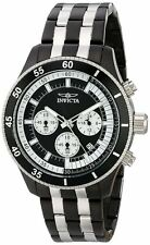 Invicta 18055 Men's Specialty Chronograph Two-Tone Steel Black Dial Sport Watch