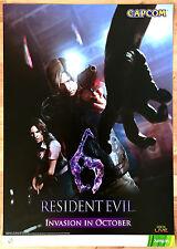 Resident Evil 6 RARE XBOX 360 51.5 cm x 73 cm Japanese Promo Poster #1