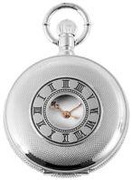 Classique Taschenuhr Weiß Silber Römische Ziffern Analog Quarz X-485822000006