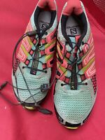 Salomon XR Mission 1 Men's Size 6 Aqua/Peach Athletic Trail Running Shoes