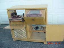 Vintage 1947 Admiral 7C73B-UL Radio Phonograph Tube Amp Console Mid Century Mod