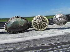 NEW RALPH LAUREN M turquoise leather double wrap concho bracelet black vachetta