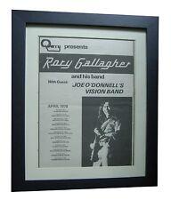 RORY GALLAGHER+TOUR+POSTER+AD+RARE ORIGINAL 1978+FRAMED+EXPRESS GLOBAL SHIP
