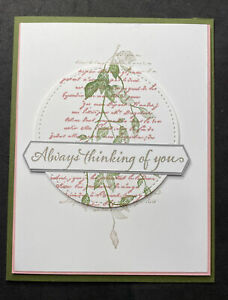 Thinking Of You Suitable For Illness Card Stampin' Up!