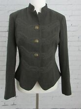 Cabi 221 Women's Military Embroidered Corps Gray Jacket Blazer Size 4