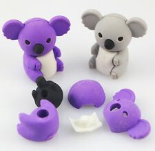 Removable Cute Koala Eraser Rubber Pencil Stationery Child Gift Toy 1pc