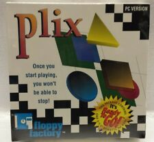 "Plix Brain Teaser Puzzle Strategy PC Computer Game Floppy Factory 3.5"" Disk NEW"
