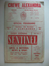 Away Teams A-B Aldershot Fourth Division Football Programmes