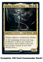 MTG Commander EDH Deck Atraxa, Praetor's Voice 100 Magic Cards Custom Deck +1/+1
