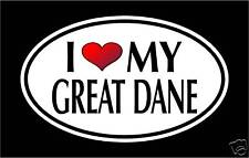 "5.75"" I Love My Great Dane vinyl decal sticker. dog"