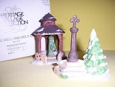 """Dept 56 """"Village Well And Holy Cross"""" Heritage Village Accessory"""