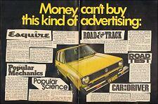 1975 Vintage ad for VW Rabbit Yellow retro car 2-pgs   (051417)