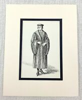 1889 Antico Stampa Sir Oliver Martext Costume Shakespeare Come You It Teatro
