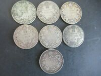 CANADIAN KING GEORGE V QUARTERS 1930 TO 1936 LOW MINTAGE