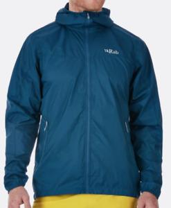 Rab Mens Vital Windshell Hoody wet weather zip front lightweight jacket NWOT SzM