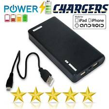 50000mah Power Bank 3usb Dual LED LCD External Battery Charger for iPhone X 8 UK Black