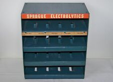 Vtg. Sprague Electronics Advertising Metal Display Co. Capacitor Storage Cabinet