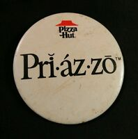 Vintage Pizza Hut Restaurant Advertising Pinback Button Collectible