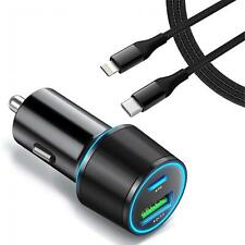 For iPhone SE (2020) - QUICK CAR CHARGER 36W PD CABLE USB-C PORT DC SOCKET
