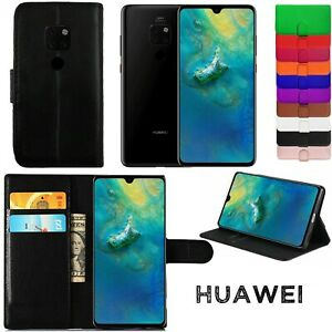 Leather Wallet Flip Stand Phone Case For Huawei P20 P30 P40 Mate 30 Mate 40 P10