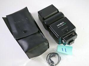 Minolta 360PX Auto TTL Flash w/case diffuser PC cord - tested works great #11
