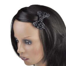 Accessoires de coiffure barrettes noirs en tissu pour femme