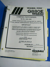 Gradall G880e Combined Parts Manual 1990 Oem Clean