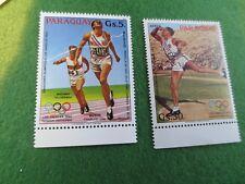 PARAGUAY # C535, 537 MNH SUMMER OLYMPICS LOS ANGELES 1984