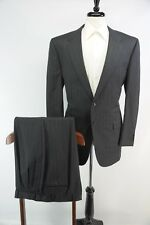 NWOT Corneliani Extra Fine Super 100s Charcoal Gray Pinstripe Suit 52R Italy 42R