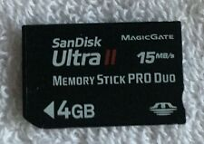 Sony 4GB Memory Stick PRO Duo Card, CLEANED AND TESTED